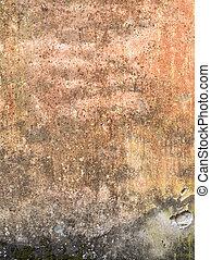 vägg, sten, rosta, struktur