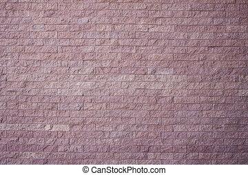 vägg, sten, sand, närbild, tegelsten