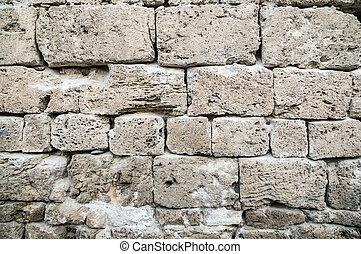 vägg, sten