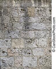 vägg, sten, strukturerad