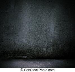 vägg, svart fond