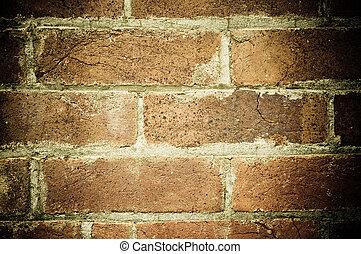 vägg, tegelsten, gammal, bakgrund, struktur