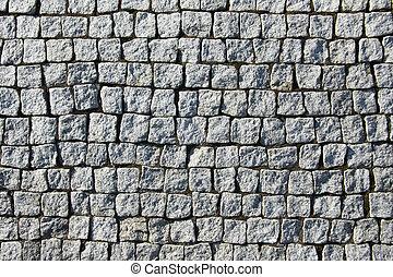 vägg, tegelsten, grå