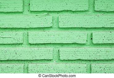 vägg, tegelsten, grön, struktur, bakgrund