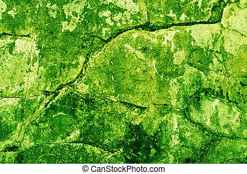 vägg, tegelsten, grön, struktur