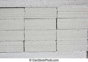 vägg, tegelsten, nymodig, Grå