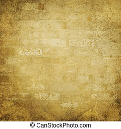vägg, tegelsten, sandsten