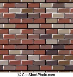 vägg, tegelsten, seamless, bakgrund, grå