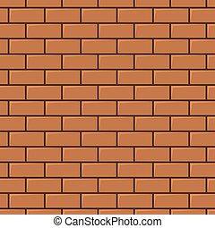 vägg, tegelsten, seamless, bakgrund, röd