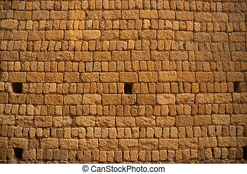 vägg, tegelsten, texture.