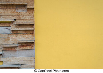 vägg, trä, bakgrund, struktur, apelsin