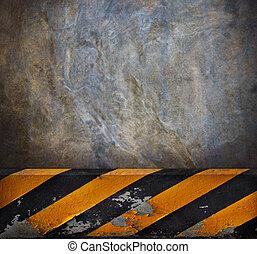 vägg, väg, bakgrund, cement, sida
