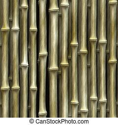 vägg, växt, bambu, bakgrund, seamless