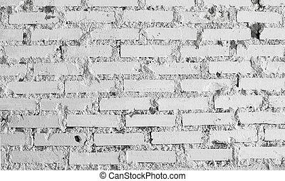 vägg, vit, abstrakt, tegelsten, bakgrund