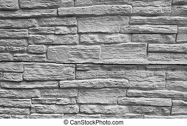 vägg, vit, grunge, tegelsten, bakgrund