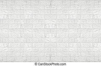 vägg, vit, nymodig, tegelsten, texture.