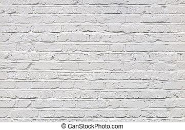 vägg, vit, tegelsten, Struktur