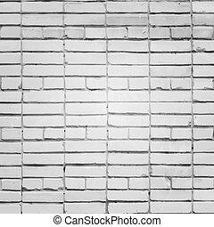 vägg, vit, vektor, tegelsten, bakgrund