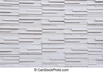 vägg, vita tegelsten, bakgrund, struktur