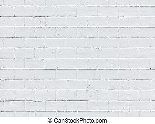 vägg, vita tegelsten, struktur