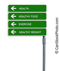 vägmärke, till, exercerande, vikt