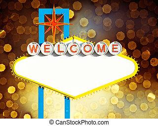 välkommen, till, las vegas, underteckna