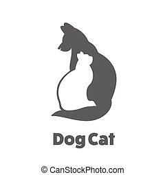 vänner, husdjuret, ikon
