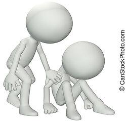 vänner, sympati, för, bedrövelse, fördjupning, förlust