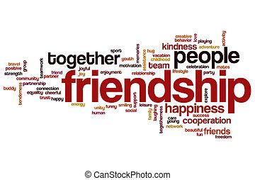 vänskap, ord, moln