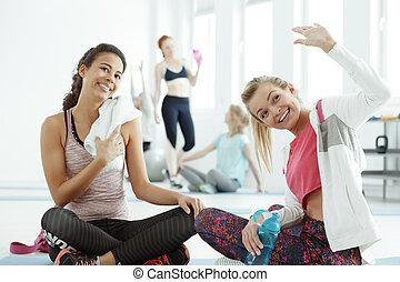 vänskapsmatch, välkommen, på, a, gymnastiksal