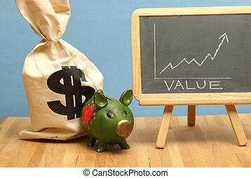 värdera, ökning