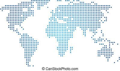 värld, abstrakt, vektor, karta