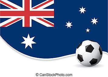 värld, australien, bakgrund, kopp