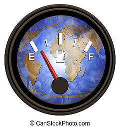 värld, bensin, mätare