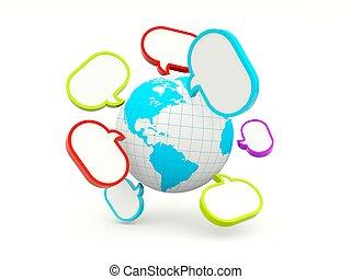 värld, bubblar, anförande
