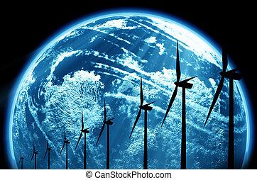 värld, energi