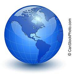 värld glob, 3, ikon