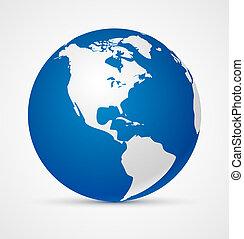 värld glob, ikon