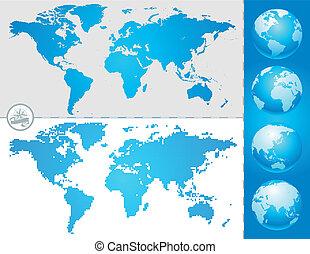värld glob, kartera