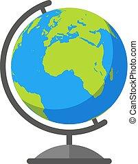 värld glob, vektor, färgrik