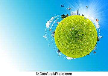 värld, grön