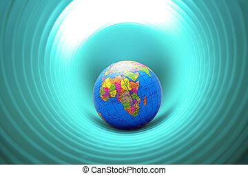 värld, hål