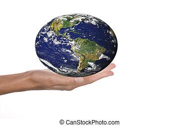 värld i händer