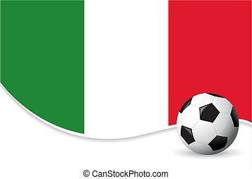 värld, italien, bakgrund, kopp