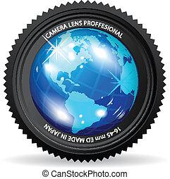 värld, kamera