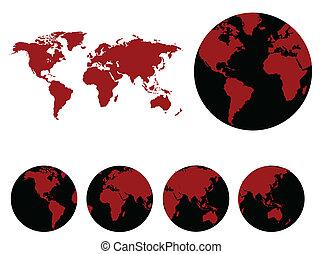 värld, karta