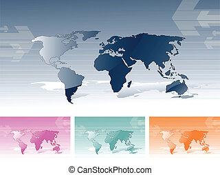 värld kartlägger