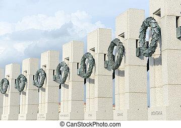 värld, krig, 2, minnesmärke, in, washington washington dc