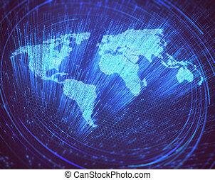 värld, optisk fiber