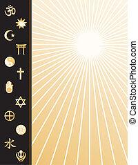 värld religioner, affisch